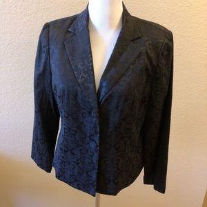 Apt 9 jacquard blazer black 16w